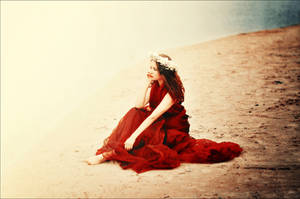 Waiting in my favourite red dress by CasheeFoo