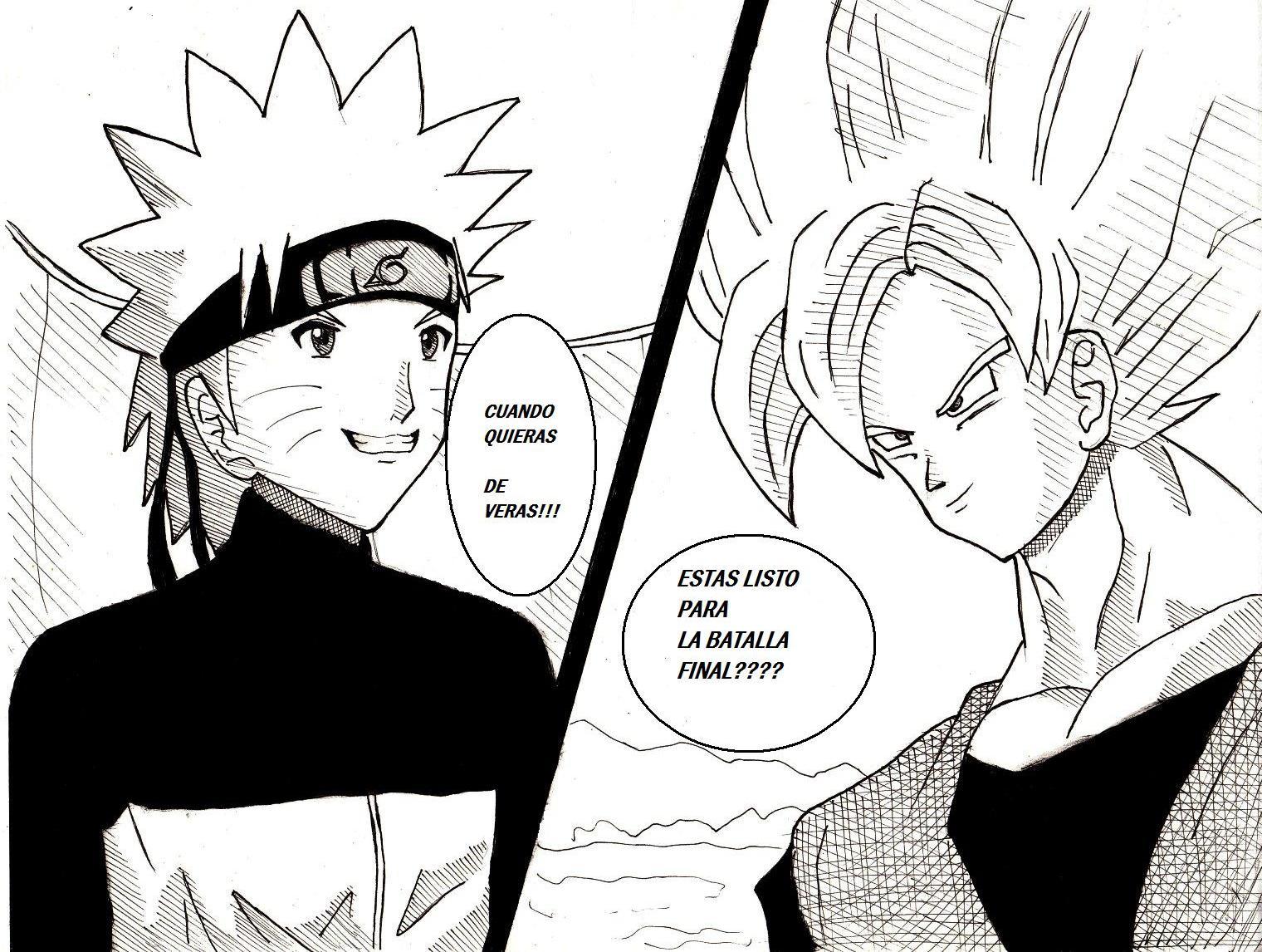 Goku vs Naruto shippuden by Nekoyasha87 on DeviantArt
