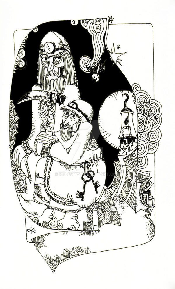 the gold mine - illustration by pklesitz