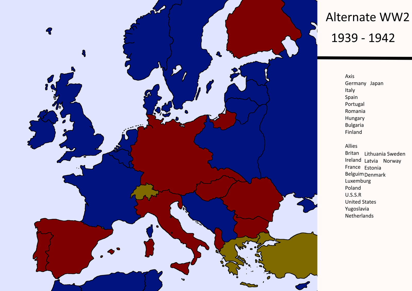 Alternate WW2 Map By TXMapper Alternate WW2 Map By TXMapper