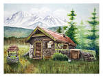 Cabin - Watercolor