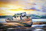 Shipwreck - Pastel