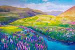 Flower field - Acryla Gouache