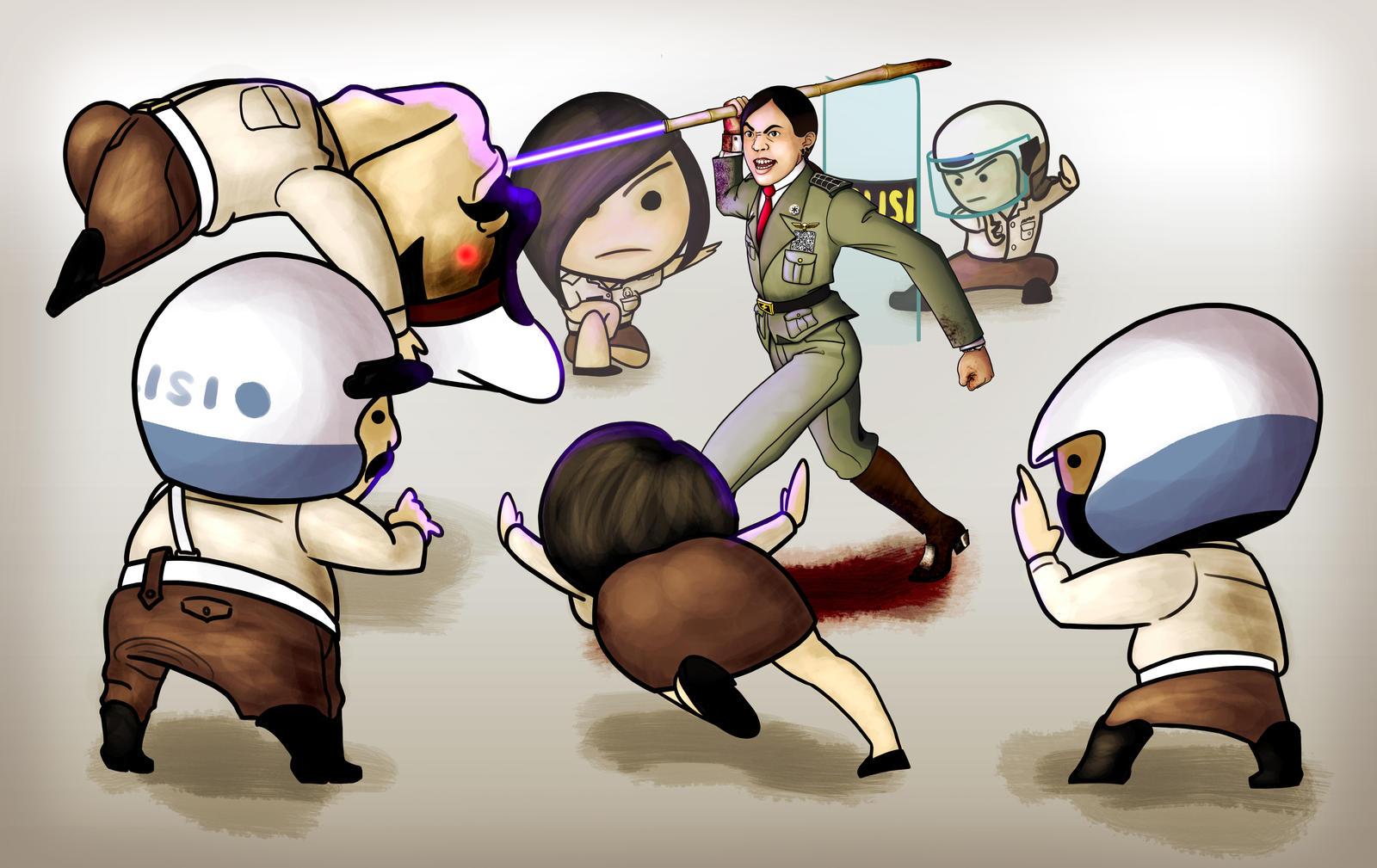 Gambar Kartun Polisi Lantas Wallpaper