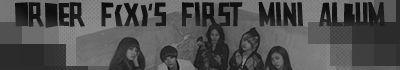Order fx's mini album
