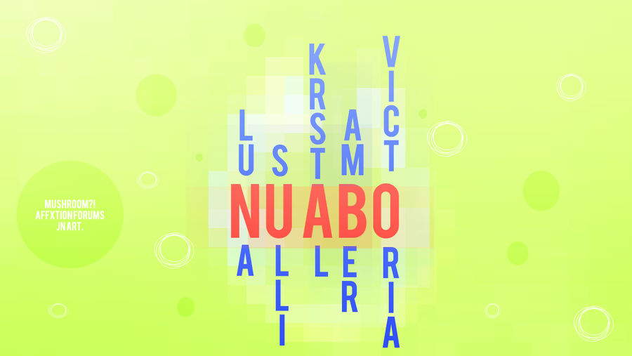 Nu ABO Typography by superjesster