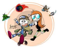 Shut-In Gals (Armie and Futaba) by JamesTechno998