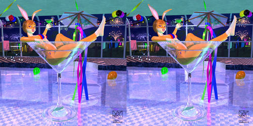 Celebrate With A Glass Of Yumi! .. Stereo3D