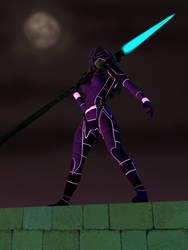 Liani Cosplaying Vector As Captain Neon Ranger