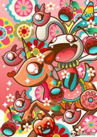 Bunny War by caramelaw
