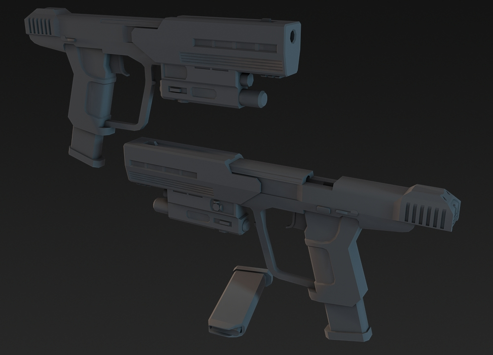 Halo 3 ODST: Silenced Pistol by martynball