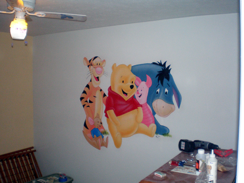 Awesome Winnie The Pooh Wall Mural By Abraun ... Part 23