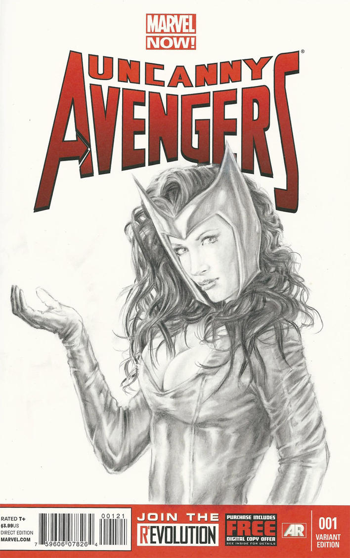 Scarlet Witch sketch cover pencils by abraun
