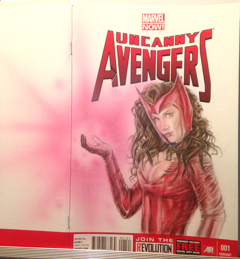 Scarlet Witch cover progress by abraun