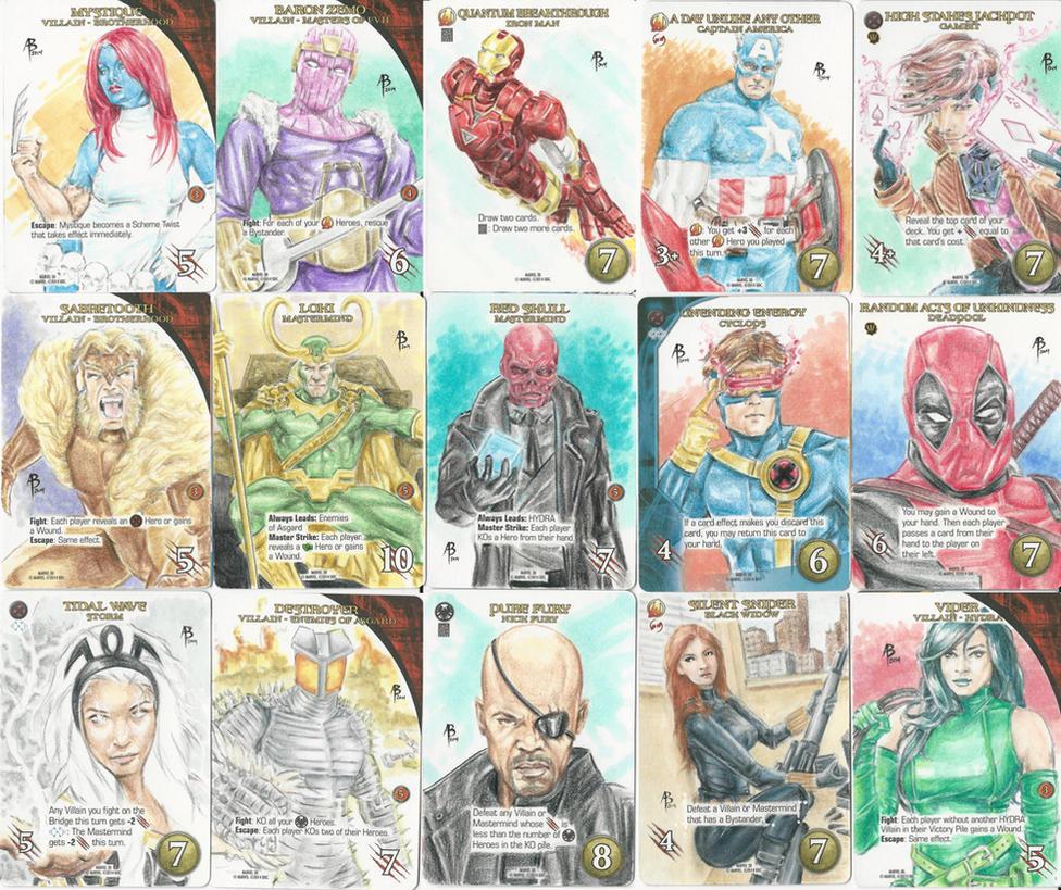 Upper Deck Marvel 3D sketch cards by abraun