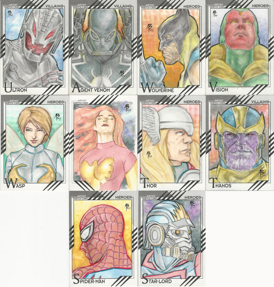 Marvel Fleer Retro sketch cards by abraun