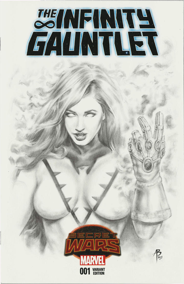 Infinity Gauntlet sketch cover by abraun