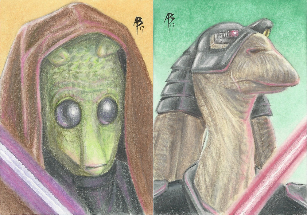 Star Wars Sketch Card commissions 2 by abraun