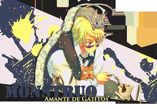 Monstruo-Amante de gatitos by SasuPatii