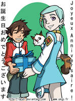 Eureka Seven: Birthday card by Uky0