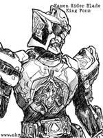Kamen Rider Blade - bw by Uky0