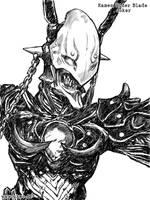 Kamen Rider Blade - Joker bw by Uky0