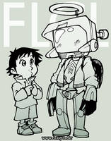 FLCL - Cantide and Naota by Uky0