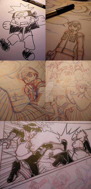 Naruto doujinshi various wip by Uky0