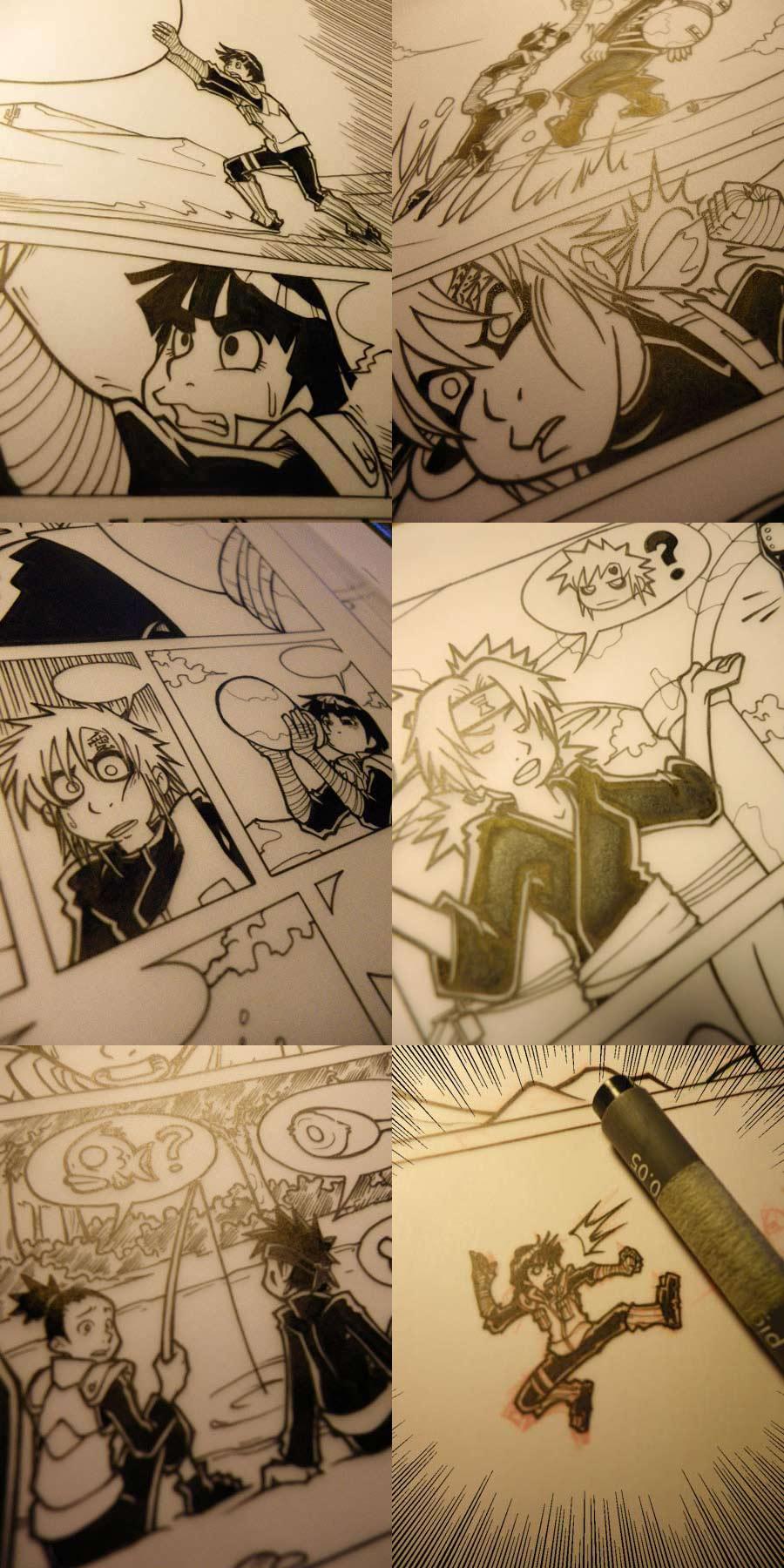 Naruto doujinshi various wip 2 by Uky0