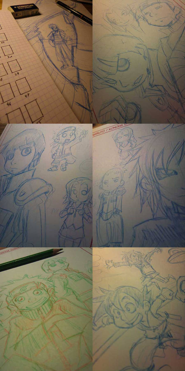 Naruto doujinshi various wip 3 by Uky0