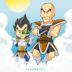Vegeta and Nappa by Uky0