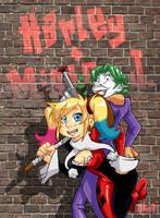 Harley Quinn and Mister J.