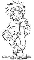Naruto line series - Naruto by Uky0