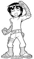 Naruto line series - Rock Lee