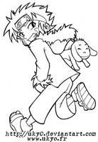Naruto line series - Kiba by Uky0
