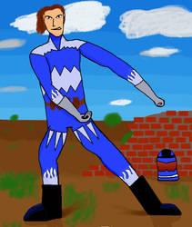 Unmasked Blue Hero: Law