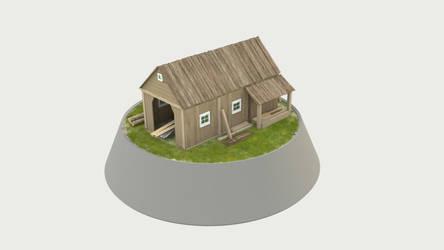 Miniature sawmill frontview by KoppKnakka