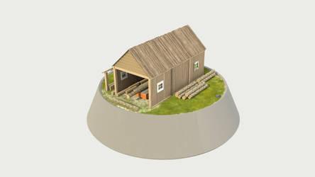 Miniature Sawmill Back view by KoppKnakka