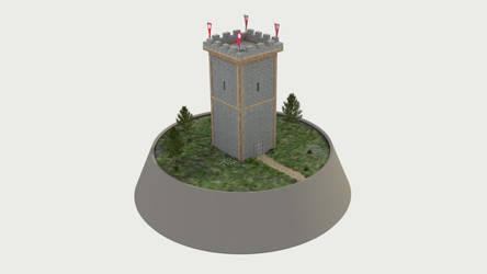 Miniatur Turm by KoppKnakka
