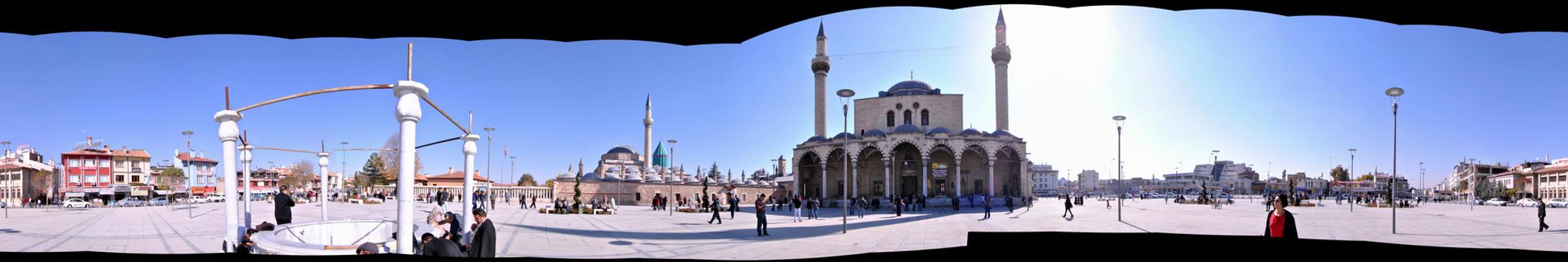 Konya Mevlana Turbesi ve Selimiye Camii by AkKrock