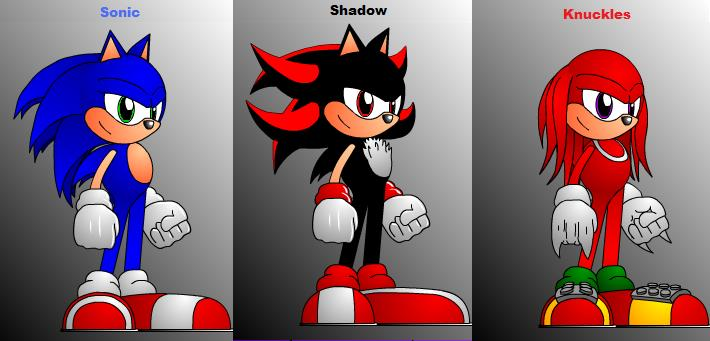 Sonic shadow and knuckles by lexy3643 on deviantart - Sonic et shadow ...