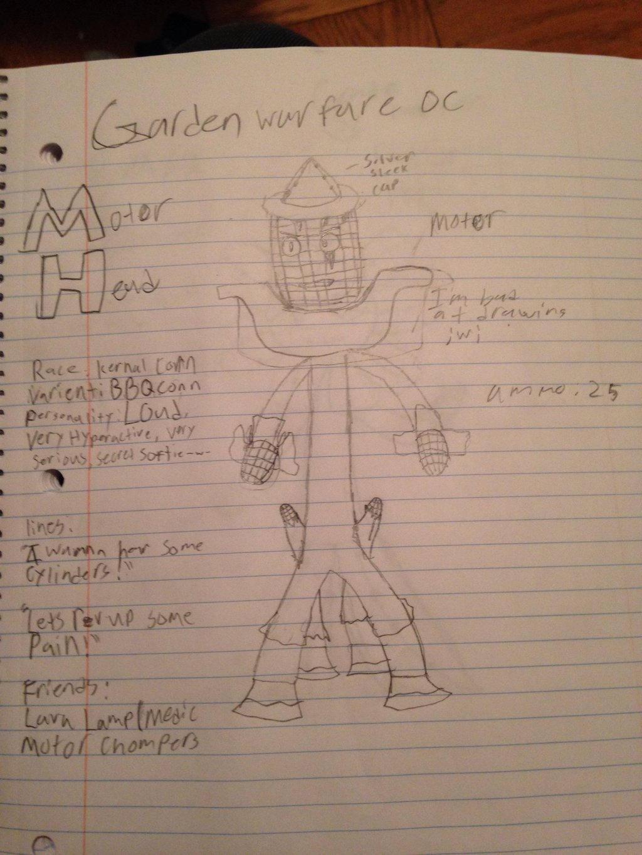 Garden Warfare 2 OC (Motor Head) by StantheSpider