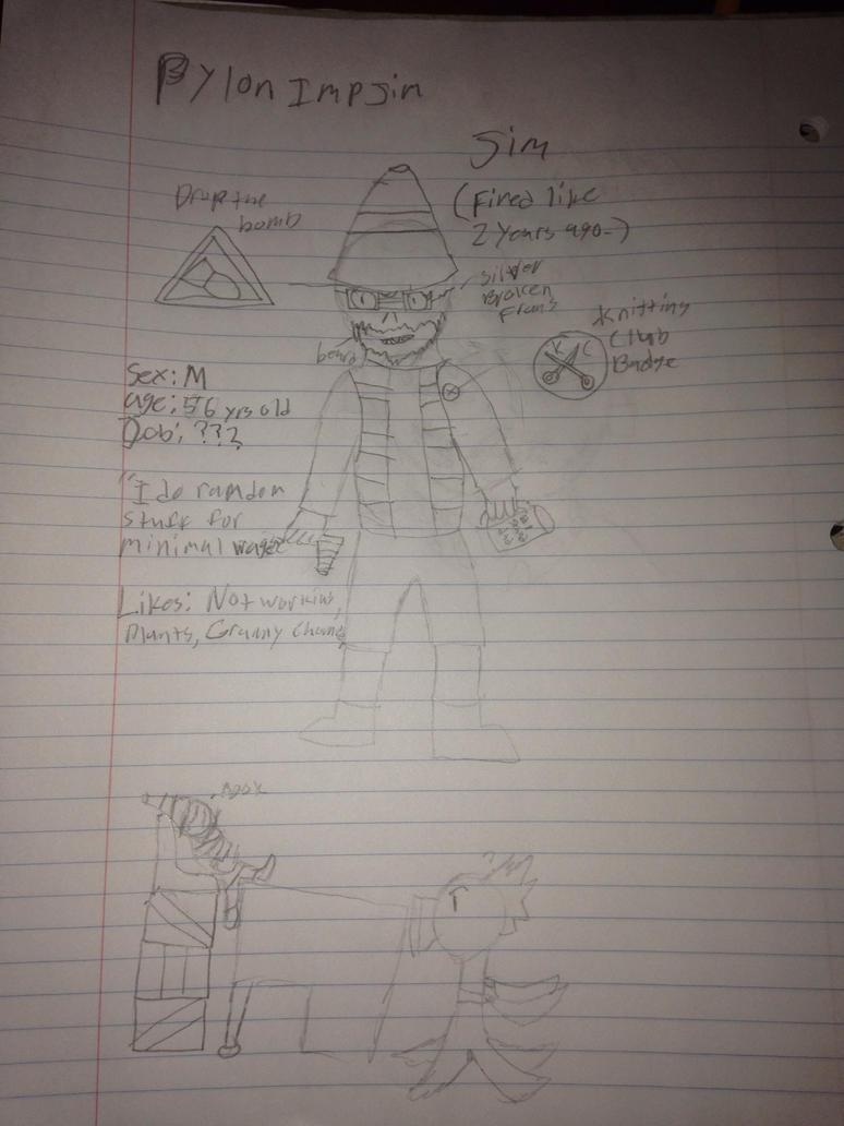 (Zombie Oc) Pylon Imp Jim by StantheSpider
