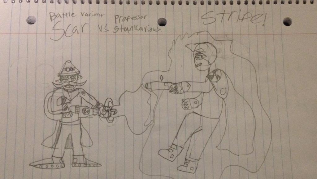 Battle V. Scar vs Prof. Stunkavious STRIFE!! by StantheSpider