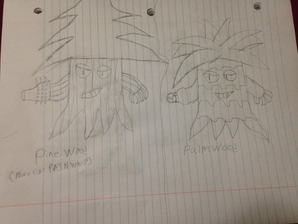 PVZ Fan Variants: (PineWood and PalmWood) by StantheSpider