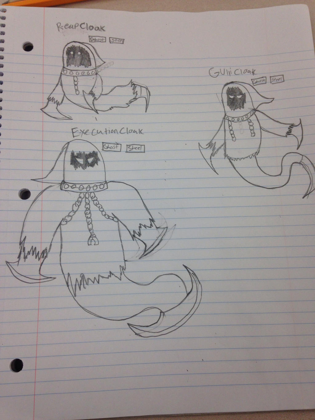 The Cloak Pokemon (My own Fakemon) by StantheSpider