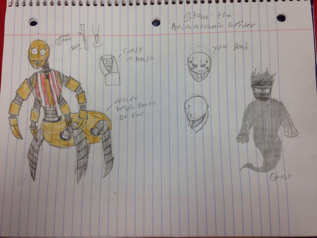 Fnaf Oc (Redraw) Stan the Animatronic Spider! by StantheSpider