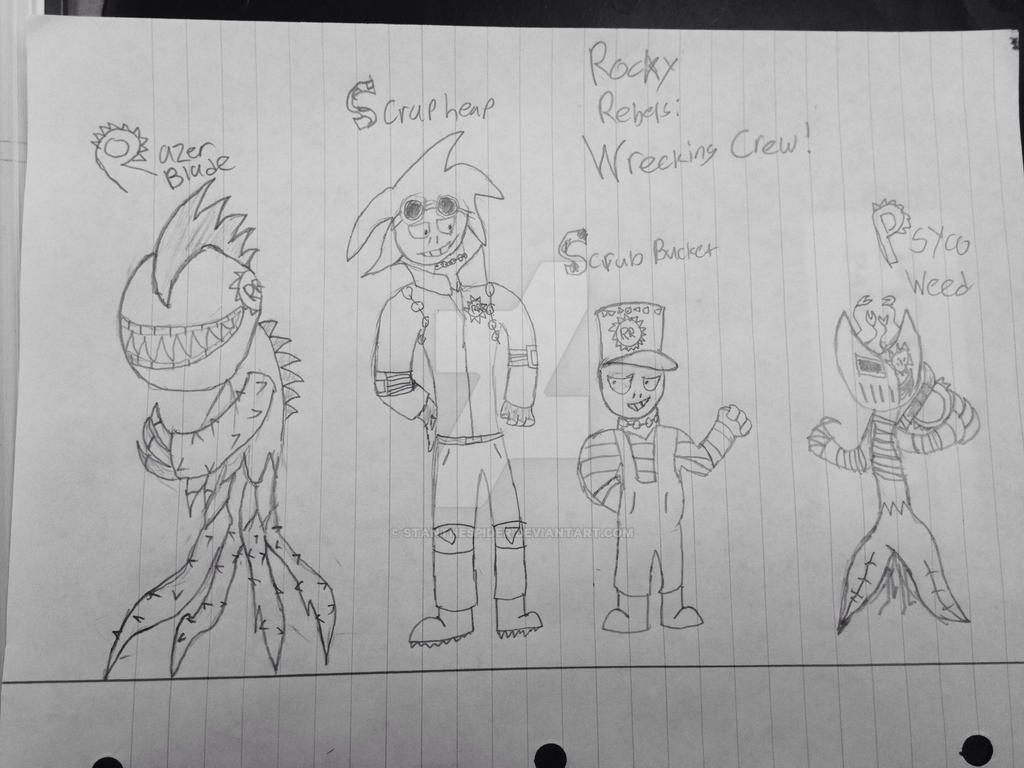 Rocky Rebels: Wrecking Crew! (PvZ: Midway!) by StantheSpider
