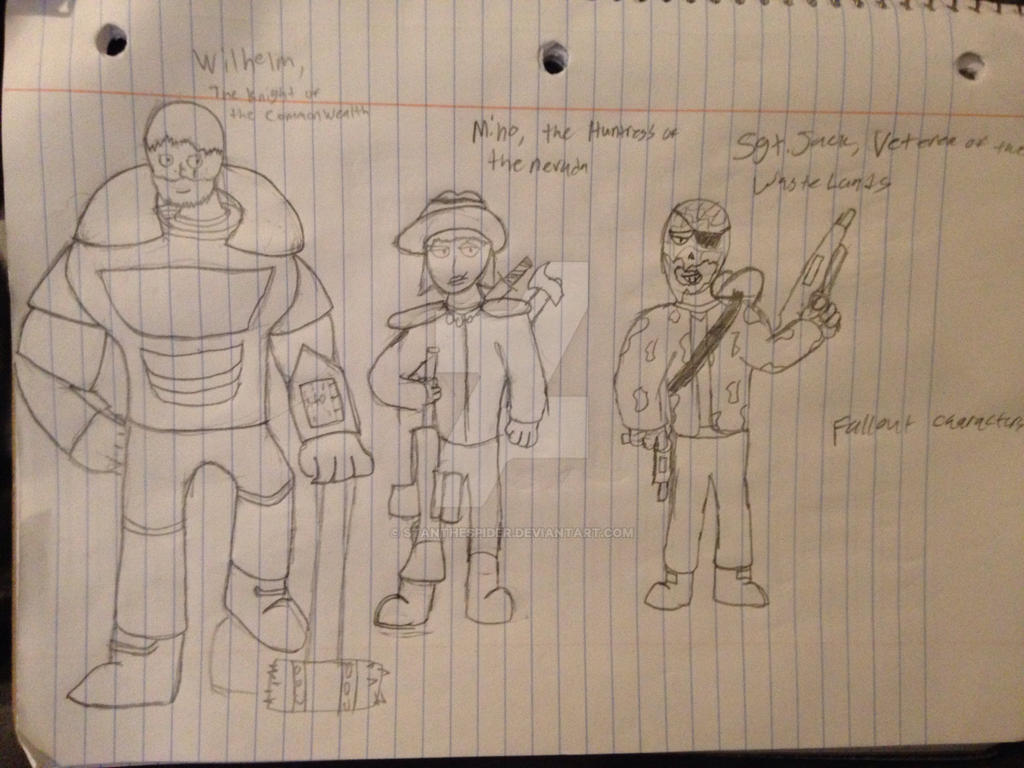 3 Fallout characters (My characters) by StantheSpider