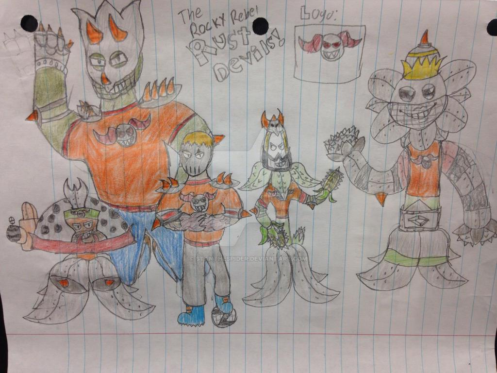 Rocky Rebels BrainzBall Team! (The Rust Devils!) by StantheSpider